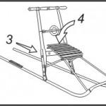 Rozkładanie sanek kicksled - etap 2